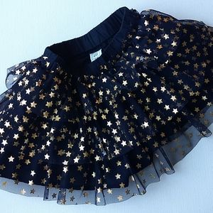 Baby Gap Blue & Gold Star Skirt * Size 12-18M